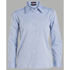 Ladies Long Sleeved Fine Chambray Shirt