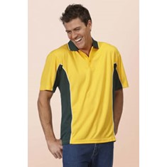 PODIUM MENS CONTRAST POLY POLO