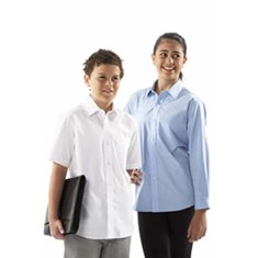 Kids Short Sleeved Poplin Shirt