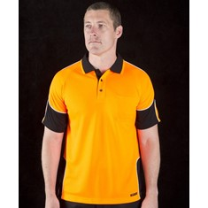 Hi Vis Short Sleeved Arm Panel Polo