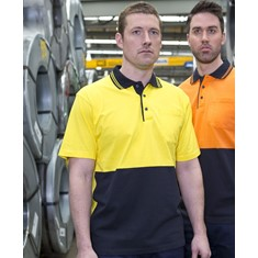 Hi Vis Short Sleeved Cotton Polo
