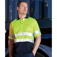 Hi Vis Day/Night Short Sleeved Polo