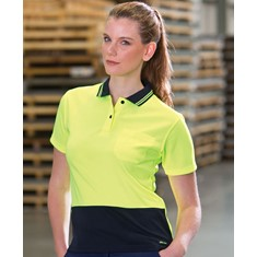 Ladies Hi Vis Short Sleeved Comfort Polo