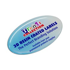 Resin Coated Labels - 74 x 43 - Oval