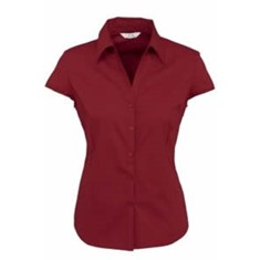 Ladies Cap Sleeve Metro Stretch Shirt