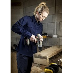 Womens Long Sleeve Tradie Shirt