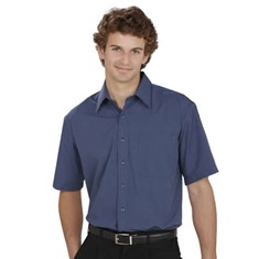 Mens Micro Check Shirt Short Sleeved