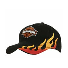 Brushed Heavy Cotton Cap with Flame Embroidery