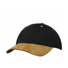 Brushed Regular Cotton Cap with Suede Peak