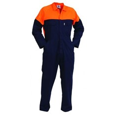 Control Comb Zip Cotton Overalls