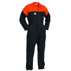 Control Zip Front Polycotton Overalls