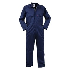 Long Sleeved Zip Front Poly Cotton Overalls