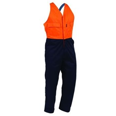 HIGH-VIS CONTRAST COTTON EASY ACTION OVERALL WITH DOMES