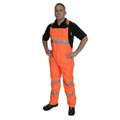 Hi Vis PVC Coated Bib Over Trousers