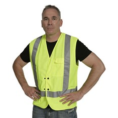 Hi Vis Domed Day/Night Vest - Yellow