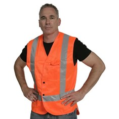 Hi Vis Domed Day/Night Vest - Orange