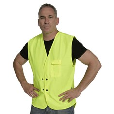 Hi Vis Domed Day Vest - Yellow