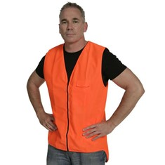 Hi Vis Zipped Day Vest - Orange