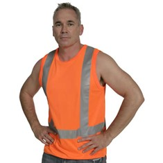 Hi Vis Microfibre Day/Night Singlet With Tail - TTMC