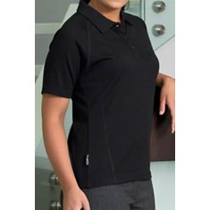 MERINO SHORT SLEEVE POLO - WOMENS