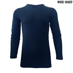 Workguard Adult Long Sleeve Thermal V-Neck
