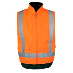 Reversible Fleece Lined Hi Visibility Safety Vest – Day / Night