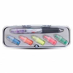 Tri-Color Pen and Highlighter Set