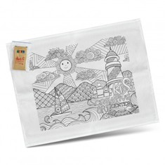 Cotton Colouring Tea Towel