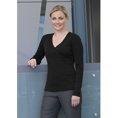 MERINO CROSSOVER TOP WOMENS