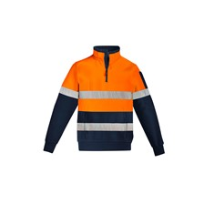Mens Hi Vis 1/4 Zip Pullover - Hoop Taped