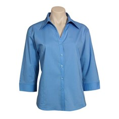 Ladies 3/4 Sleeve Stretch Metro Shirt
