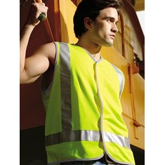 High-Vis Safety Vest With Reflective Tape