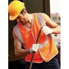High-Vis Vest With X Pattern Reflective Tape