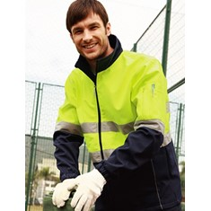 Hi-Vis Soft Shell Jacket With Reflective Tape