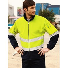 Hi-Vis Polar Fleece Jacket With 3M Reflective Tape