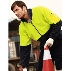 Hi-Vis Polar Fleece Jacket Half Zip