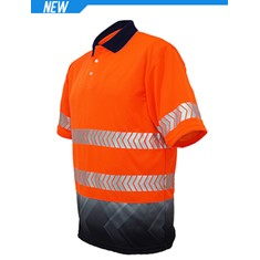 High-Vis Short Sleeve Sublimated Reflective Polo