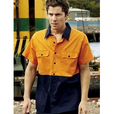 High-Vis Short Sleeve Cotton Twill Shirt