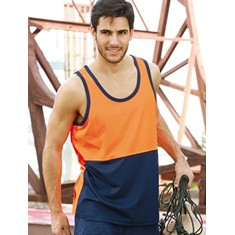 Hi-Vis Polyface / Cotton Back Singlet