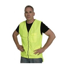 Hi Vis Zipped Day Vest - Yellow