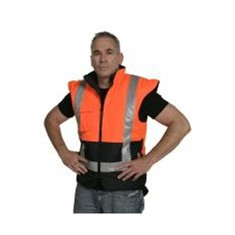 Reversible PU Coated Vest Orange/Navy