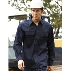 Cotton Drill Long Sleeve Work Shirt